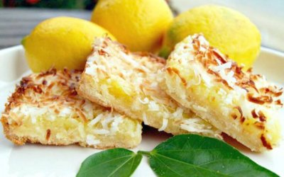 Lemon Coconut Protein Bar