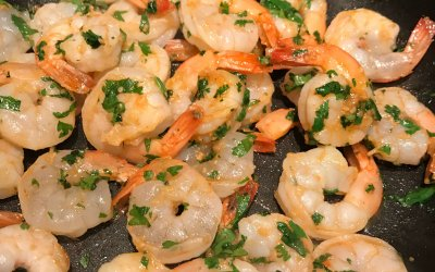 Tasty Tuesday: Cilantro Garlic Shrimp, Cucumber salad & Stuffed Jalapeños